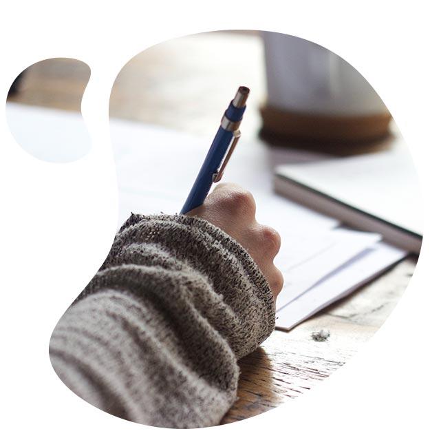 writing shape
