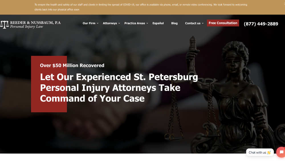 reeder & nussbaum website design